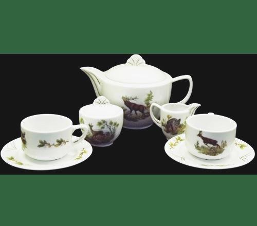 Glória Teakészlet 9 részes erdei vad mintás