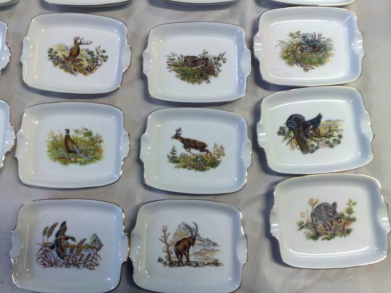 Hamutál szögletes 14 cm erdei vadmintás