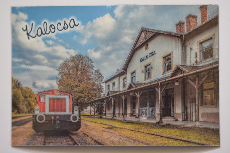 Hűtőmágnes Kalocsa vasútállomás1
