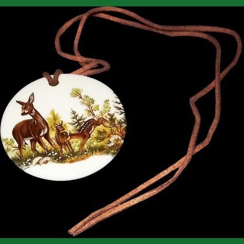 Nyak medál kerek erdei vadmintás 731014