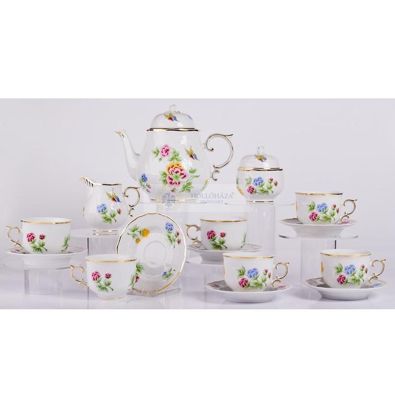 Teás készlet 15 részes Hortenzia