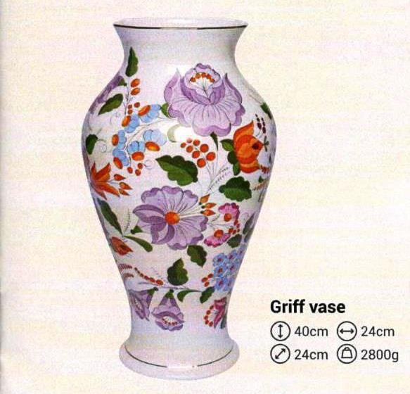 Váza Griff szomorú kalocsai