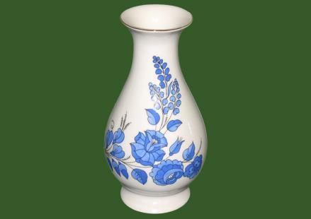 Váza Rózsa kék 20cm 314203