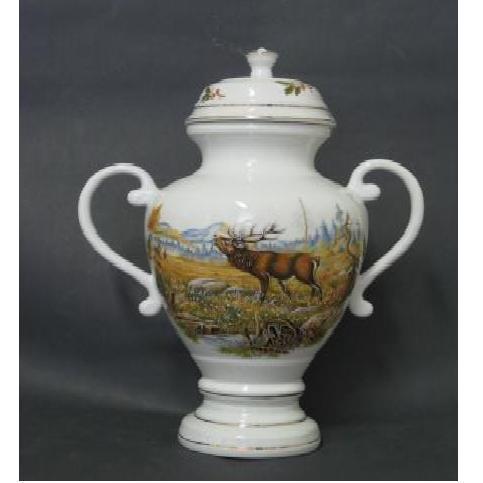 Váza serleg 34 cm erdei vadmintás 306304