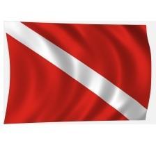 zászló Búvár a vízben hajózászló