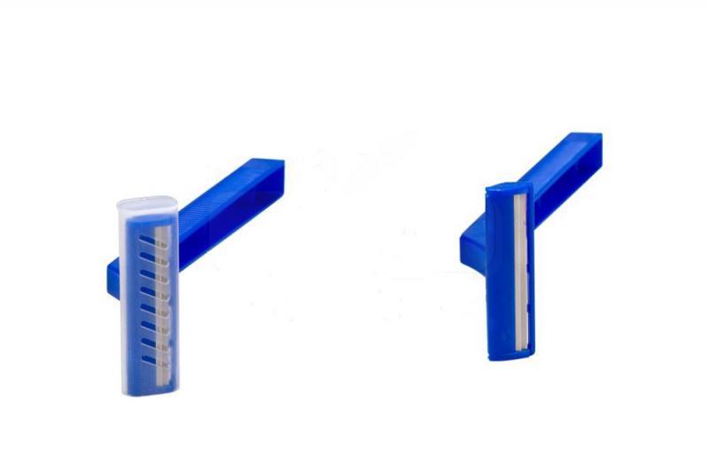 Borotva egyszerhasználatos, kétélű (100 db), kék.