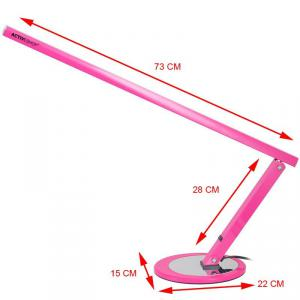 Műkörmös asztali lámpa, fénycsöves , pink