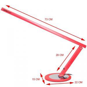 Műkörmös asztali lámpa, fénycsöves , piros
