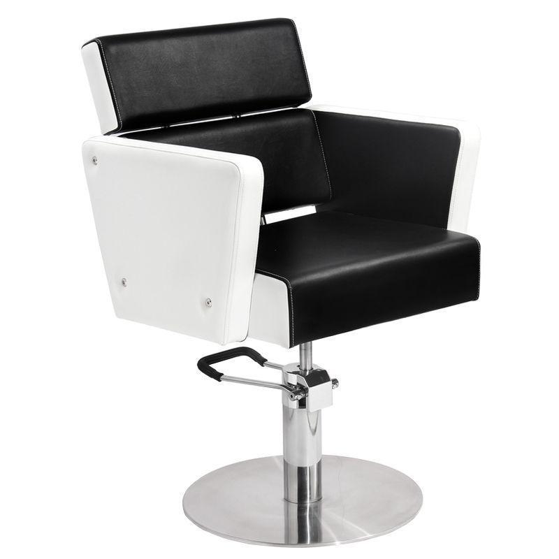 Fodrász kiszolgáló szék (Dublin), fekete/fehér színben