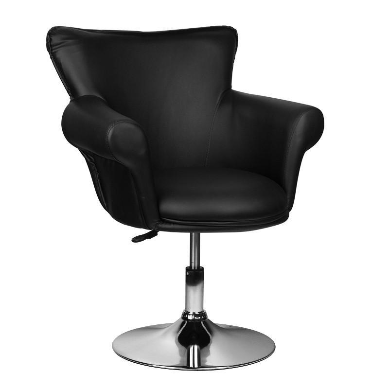 Fodrász szék, gázrugós, fekete műbőrrel (5841)