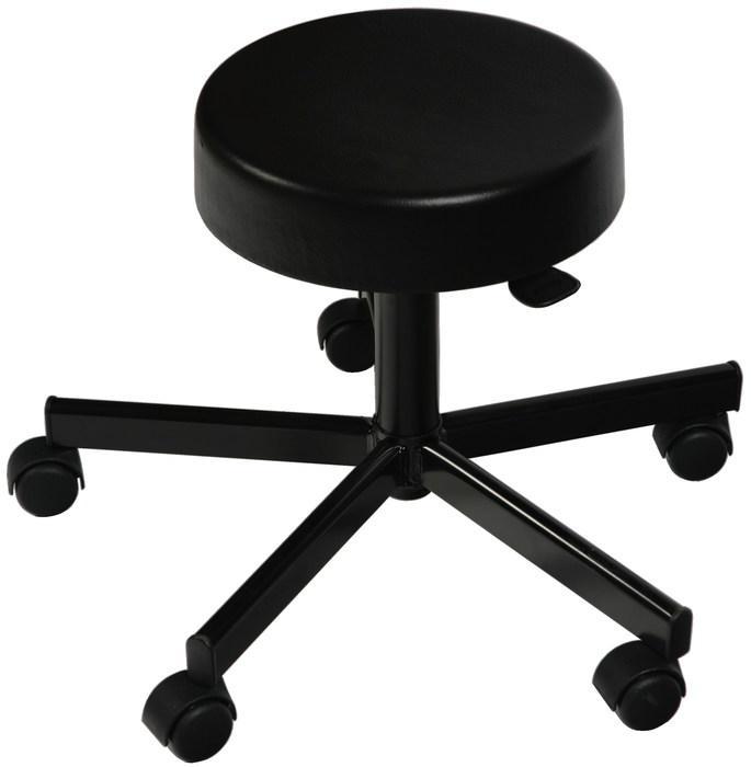 Forgó ülőke, gázrugóval, 40 cm átmérőjű ülő felülettel, acél talppal fekete