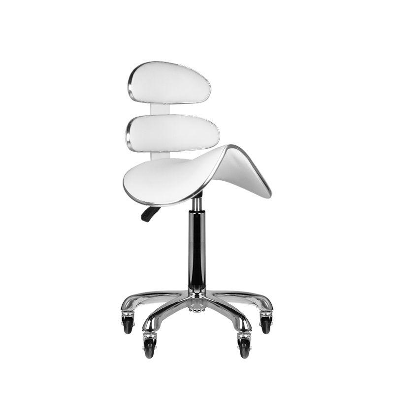 Forgó ülőke, nyerges, osztott háttámlás, fehér (6430)