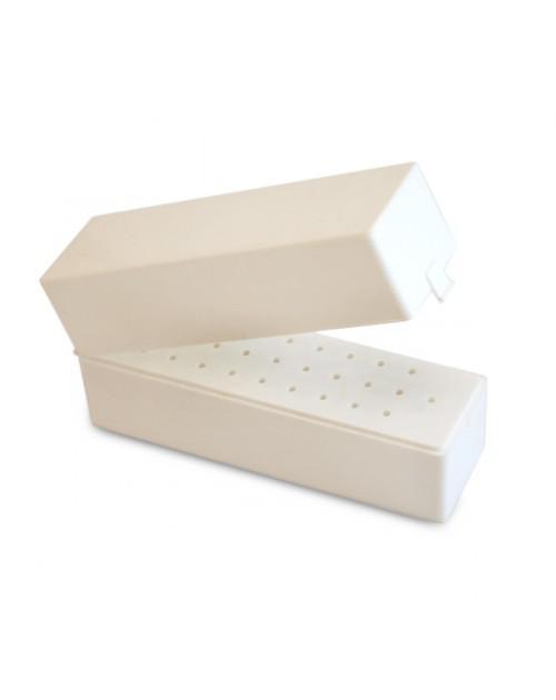 Fréztartó dobozka összecsukható fehér 30dbos