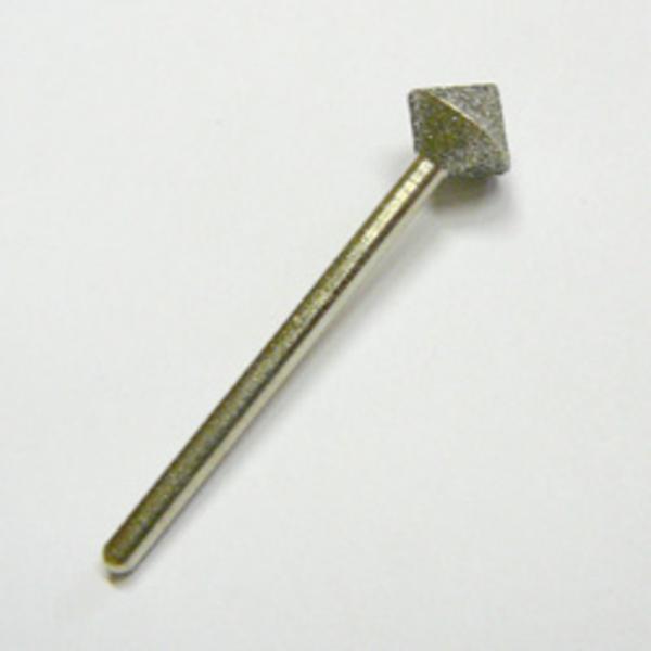 Gyémánt szemcsével bevont fej, francia körömhöz, mérete: kicsi, közép durvaságú