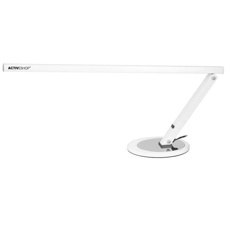 Műkörmös asztali lámpa, fénycsöves, fehér