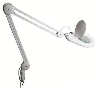 Nagyítós lámpa LED-es, 3 dioptriás lencsével, asztalhoz rögzíthető