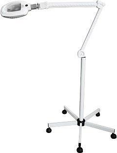 Nagyítós lámpa, LED-es 5 dioptriás, gurulós talppal