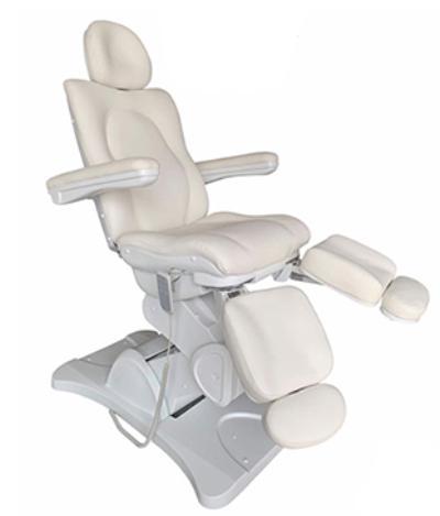 Pedikűr szék 3 motoros, oldalra kihajtható lábtartóval. A/OL.