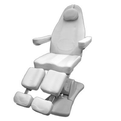 Pedikűr szék 3 motoros, oldalra kihajtható lábtartóval. A/T.