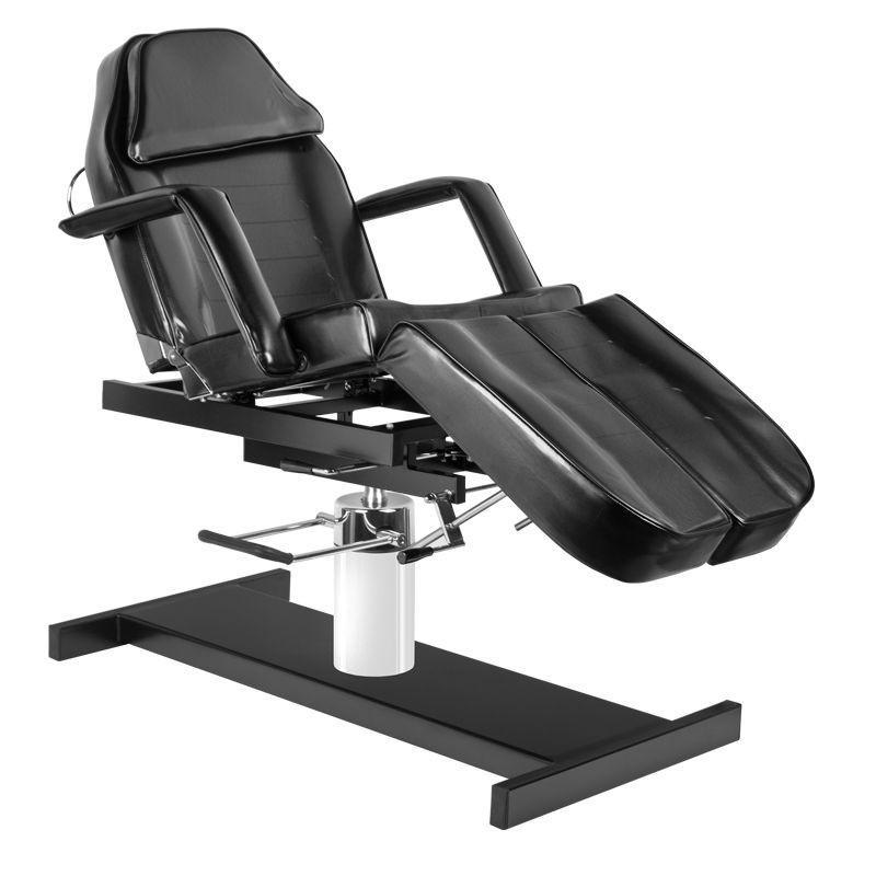 Pedikűrős szék, hidraulikus, fekete műbőrrel (4917). AJÁNDÉKKAL!