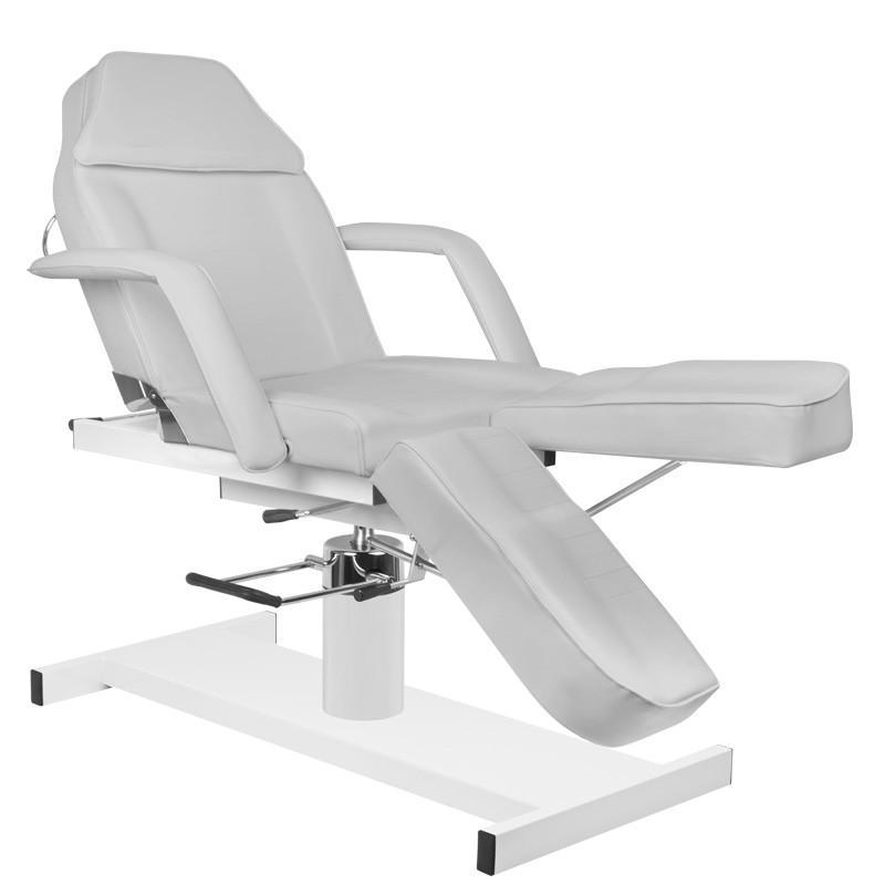Pedikűrős szék, hidraulikus, szürke műbőrrel (3762). AJÁNDÉKKAL!