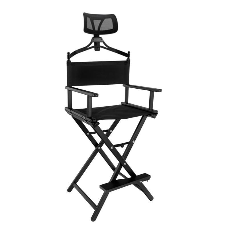 Smink szék / sminkes szék összecsukható,hordozható, karfával, fejtámlával (3153)