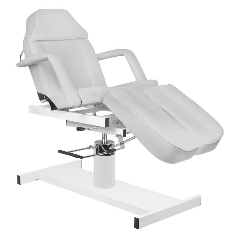Tetováló szék, hidraulikus, szürke műbörrel (3762)