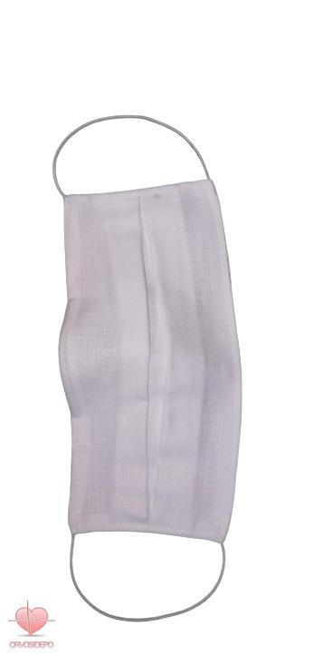 Textil szájmaszk, mosható/fertőtleníthető, fehér, orrnyereg fém klipsszel ellátott. (1.090 Ft / db)
