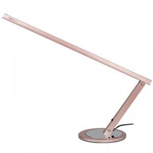 Műkörmös asztali lámpa, fénycsöves , rózsa arany színben
