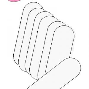 """Pedi Planet sarokreszelő lap fehér """"180"""" (20db) (rozsdamentes sarokreszelőhöz)"""