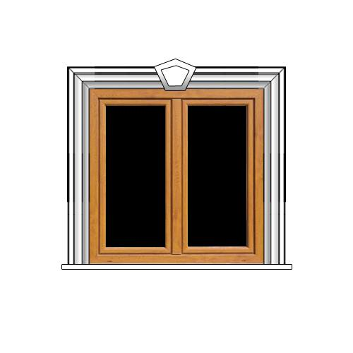 5. Ablakdísz - natúr felülettel