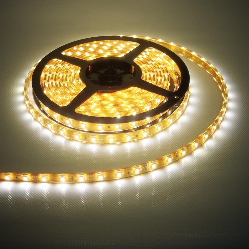 Beltéri (IP20) meleg fehér 60 LED/m led szalag, ledszalag