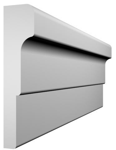 KL-20 kültéri díszléc - natúr felülettel