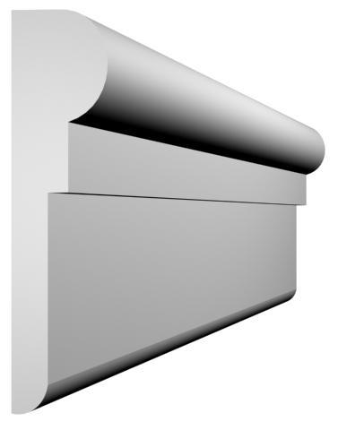 KL-21 kültéri díszléc - natúr felülettel
