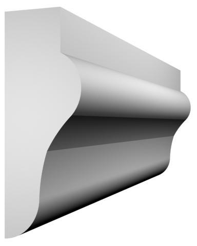 KL-27 kültéri díszléc - natúr felülettel