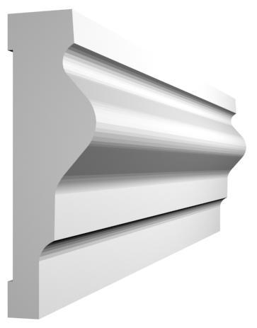 KL-3 kültéri díszléc - natúr felülettel