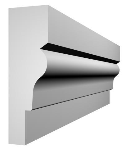 KL-40 kültéri díszléc - natúr felülettel