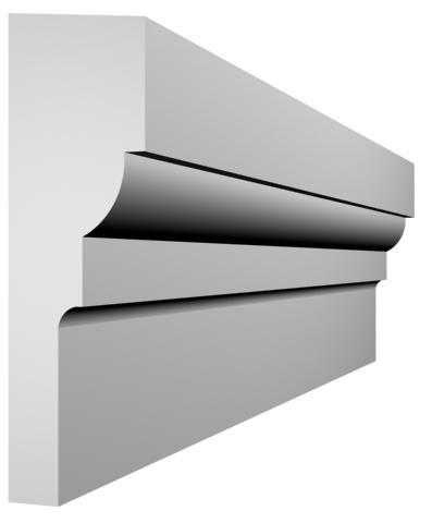 KL-41 kültéri díszléc - natúr felülettel