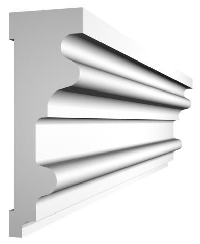 KL-5 kültéri díszléc - natúr felülettel