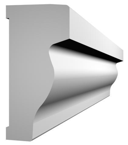 KL-6 kültéri díszléc - natúr felülettel