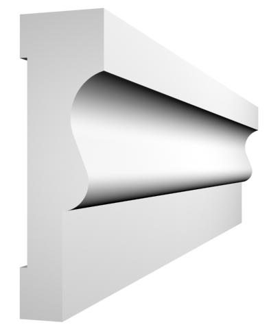 KL-9a kültéri díszléc - natúr felülettel