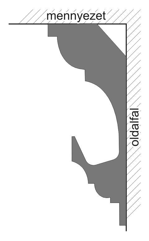 VL-1B Polisztirol díszléc rejtett világításhoz