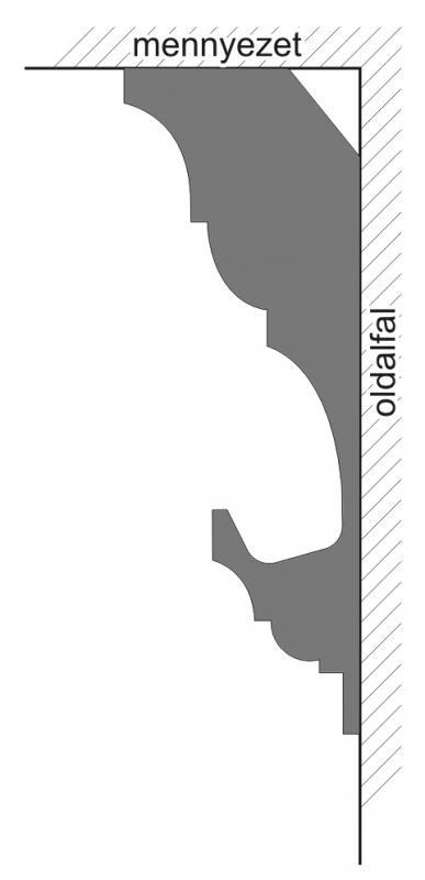 VL-1C Polisztirol díszléc rejtett világításhoz