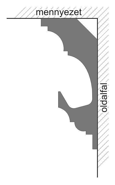 VL-2A Polisztirol díszléc rejtett világításhoz