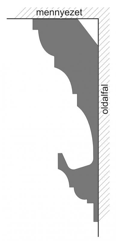 VL-2D Polisztirol díszléc rejtett világításhoz