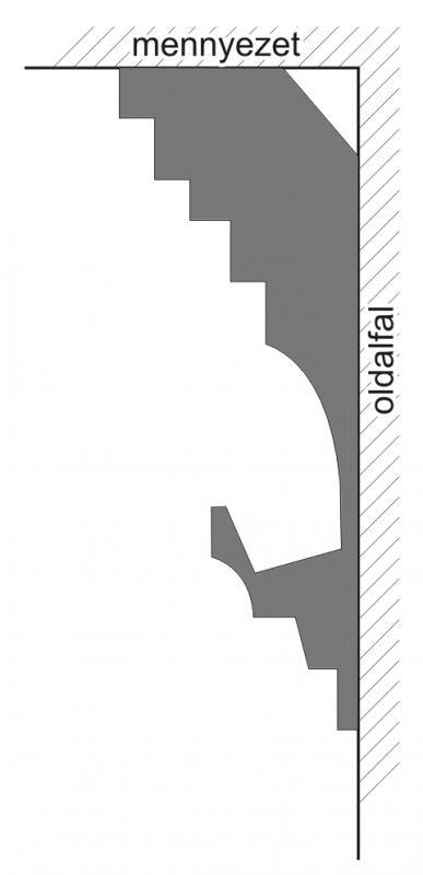 VL-3C Polisztirol díszléc rejtett világításhoz