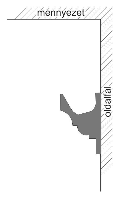 VLF-1 Polisztirol díszléc rejtett világításhoz