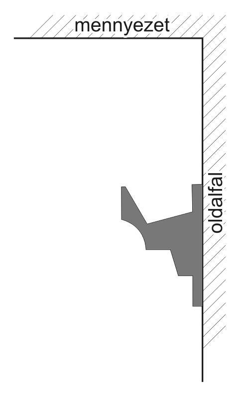 VLF-3 Polisztirol díszléc rejtett világításhoz