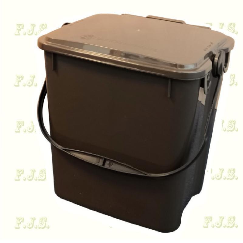 10 l. barna fedeles Urba szelektív hulladéktároló műanyag