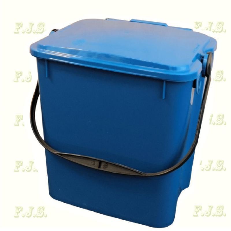 10 l. kék fedeles Urba szelektív hulladéktároló műanyag
